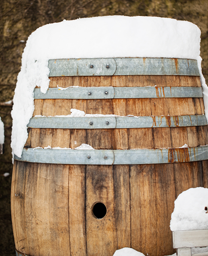 Barrel-With-Snow